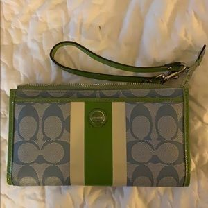 Authentic Coach wristlet/wallet